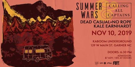 Summer Wars & Calling All Captains at Kaboom Underground tickets