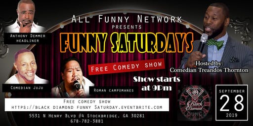 Funny Saturdays Comedy Show ( Lounge Black Diamond)