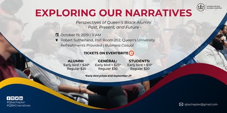 Exploring Our Narratives: Perspectives of Queen's Black Alumni tickets