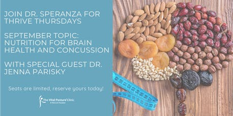 Thrive Thursday: Nutrition for Brain Health and Concussion tickets