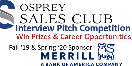 Osprey Sales Club Meeting and Interview Pitch Competition Mentoring: