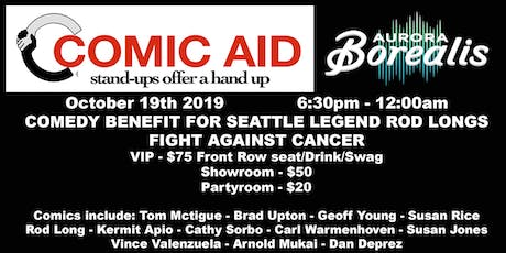Comic Aid: Benefit to Support Rod Long tickets