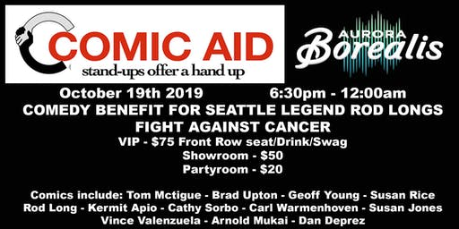 Comic Aid: Benefit to Support Rod Long