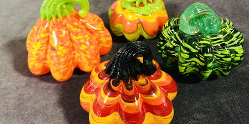 Make your own glass pumpkin with Local glass artist Lisa Pelo
