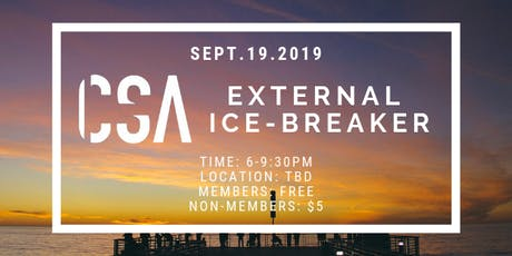 CSA External Icebreaker tickets