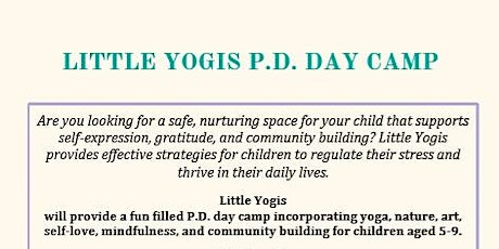 Little Yogis P.D. Day Camp tickets