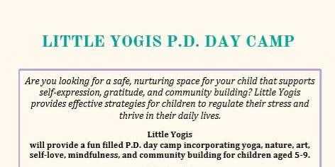 Little Yogis P.D. Day Camp