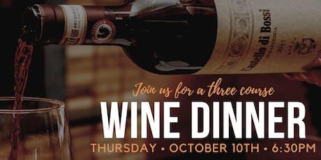 Wine Dinner at Osteria Nino! tickets