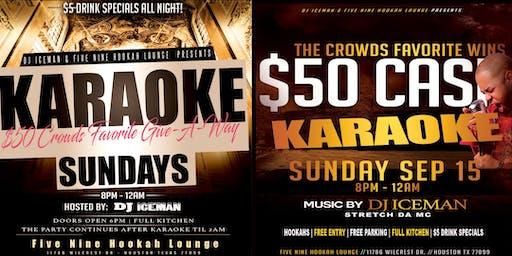 SUNDAY KARAOKE @ Five Nine Hookah Lounge