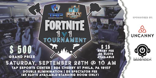 Fortnite 1v1 Tournament, Hosted by TAP Esports Center and Philly Esports