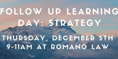 Follow Up Learning Day: STRATEGY Day