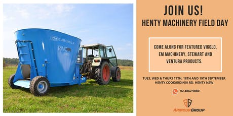 Henty | Machinery Field Days Henty NSW 2019 tickets