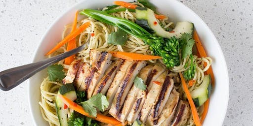 Grilled Chicken and Peanut Noodles