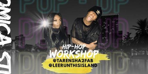 POP-UP WORKSHOP WITH @TARENSHA2FAB AND @LEERUNTHISISLAND