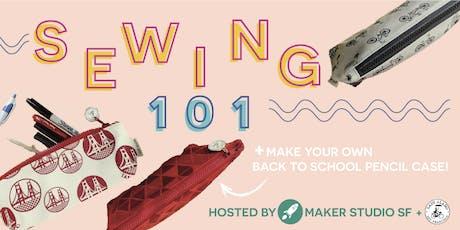 Sewing 101: Zipper Pencil Case tickets