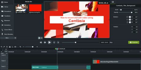 Using Camtasia to record and edit video (Online) tickets