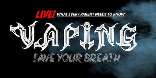 Save Your Breath: Vaping Alert - The Pennington School