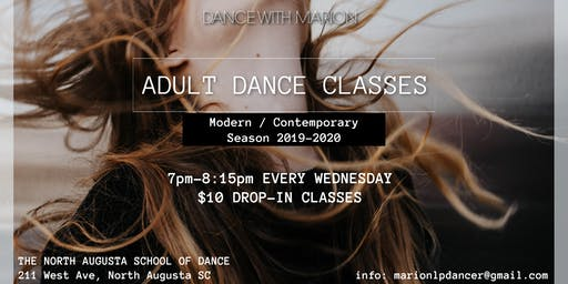 Adult Dance Classes Modern/Contemporary