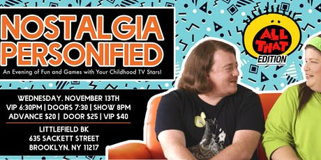 Nostalgia Personified ft. Lori Beth Denberg and Danny Tamberelli tickets