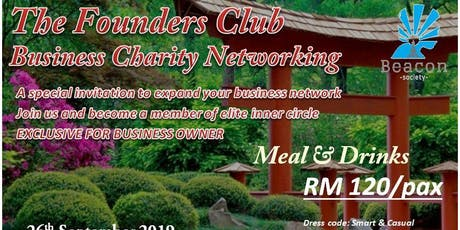 THE FOUDER CLUB BUSINESS CHARITY NETWORKING NIGHT tickets