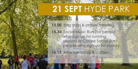 CrossActive  - Christian Event:Social Music Run (optional) x Coffee Social tickets