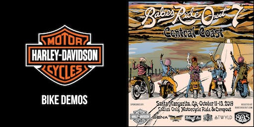 Harley-Davidson Demos at Babes Ride Out 7 x Central Coast