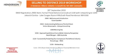 Selling to Defence 2019 Workshop tickets