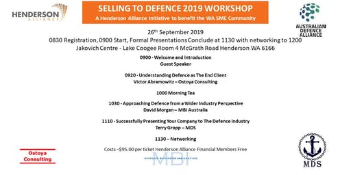 Selling to Defence 2019 Workshop