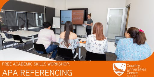 APA REFERENCING WORKSHOP