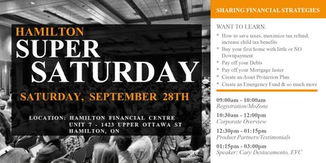 Hamilton Super Saturday: Sharing Financial Strategies tickets