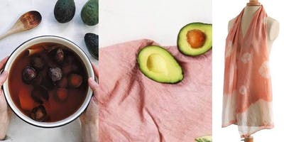 Natural Dyeing with Avocado - Pink Silk Scarves!