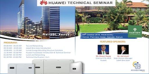 Jubaili Bros Solar & Huawei FusionSolar - Technical Seminar in Nairobi