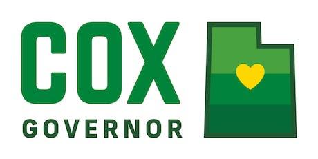 Elect Lt. Governor Cox As Our Next Governor!  tickets