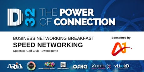 District32 Business Speed Networking - A1 Corporate Events - Fri 11th October tickets