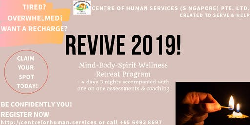 Self-esteem & Self Confidence Retreat: REVIVE RETREAT PROGRAM 2019