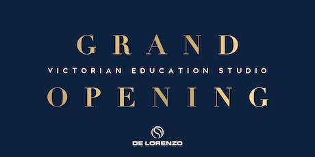 De Lorenzo Victorian Education Studio - Grand Opening tickets