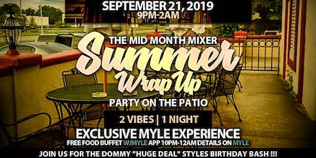 "THE MID MONTH MIXER ""SUMMER WRAP UP PARTY ON THE PATIO"" @ BUCKEYE CRAZY tickets"