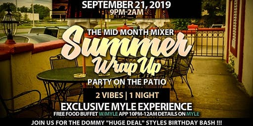 """THE MID MONTH MIXER """"SUMMER WRAP UP PARTY ON THE PATIO"""" @ BUCKEYE CRAZY"""