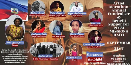 Artist Marathon Annual Fundraiser &  Benefit Supper for PCGM MISSIONS HAÏTI tickets