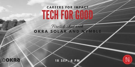 Tech for Good - Careers in Social Impact: Okra Solar & Nymble tickets