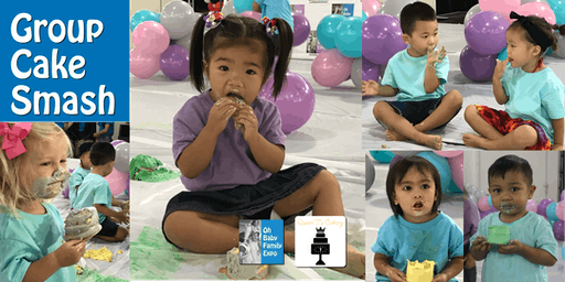 Keiki Group Cake Smash at the Oh Baby Family Expo