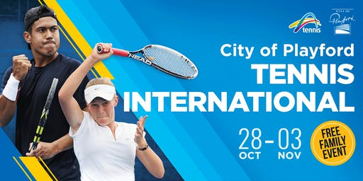City of Playford Tennis International - FREE EVENT NO TIX REQUIRED