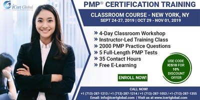 PMP® Certification Training Course in New York, NY, USA | 4-Day PMP® Boot Camp with PMI® Membership and PMP Exam Fees Included