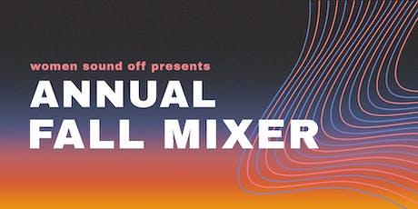 Women Sound Off 2019 Fall Mixer tickets