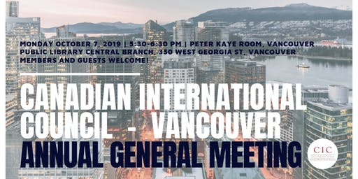CIC Vancouver Annual General Meeting