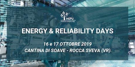 Energy & Reliability Days 2019 - Cantina di Soave, Rocca Sveva (VR) biglietti