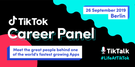 TikTok Career Panel: Inside TikTok - It's not just an App, but an Employer Tickets