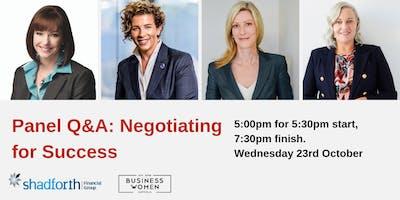 Launceston, BWA Panel Q&A: Negotiating for Success