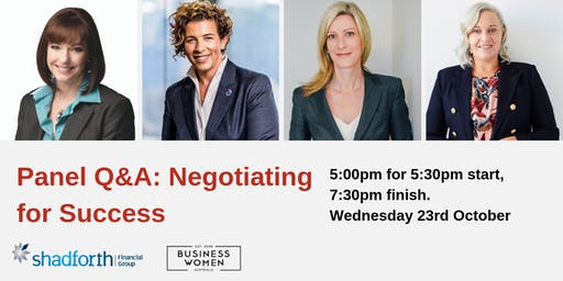 Launceston, BWA Panel Q&A: Negotiating for Success
