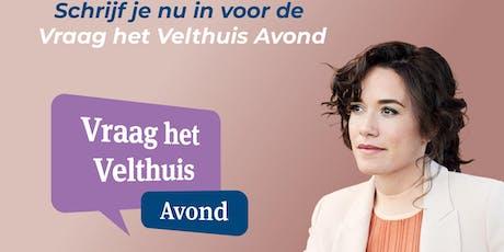 Vraag het Velthuis avond Eindhoven tickets